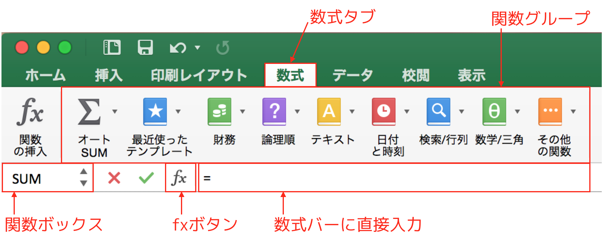 Excelの関数作成方法